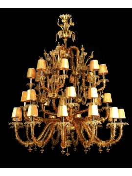 Murano chandelier from venice 28 lights made in italy 8048p 16+8+8