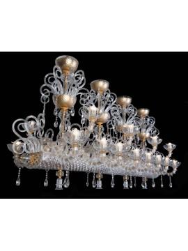 Lampadario murano di venezia 24 luci made in italy 8093 16+8