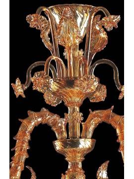 Lampadario murano di venezia ambra 6 luci made in italy 7960 6