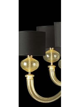 Lampadario murano di venezia oro 24k 10 luci made in italy 7872 5+5