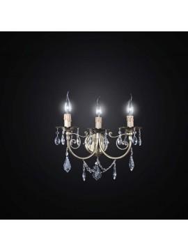 Applique 3 luci in ottone classico in cristallo BGA 2493-A3