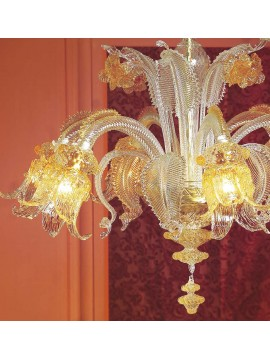 Murano chandelier from Venice 6 lights made in italy 7494 6