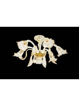 Lampadario murano di venezia ambra 6 luci made in italy 7781 6