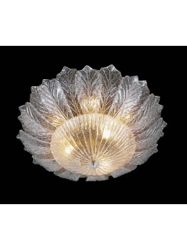 Murano ceiling lamp of venice 9 lights made in italy 7173 pl24