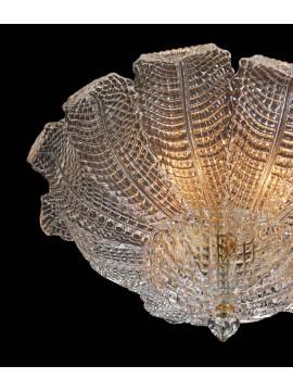 Plafoniera murano di venezia 4 luci made in italy 8038 pl12