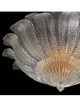 Murano ceiling lamp of venice 6 lights made in italy 8038 pl28