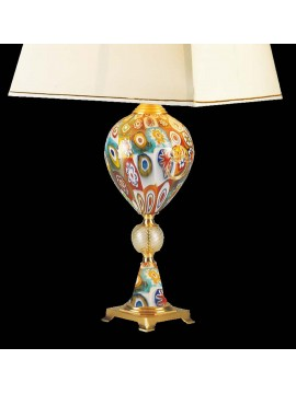 Lume di murano venezia murrine oro 1 luce made in italy 7957 lp
