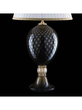 Lume di murano venezia nero oro 24k 1 luce made in italy 7561 lg