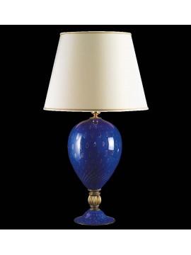 Lume di murano venezia blu oro 24k 1 luce made in italy 7561 lg