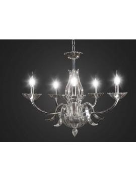 Lampadario in cristallo moderno design swarovsky 5 luci BGA 1691-5