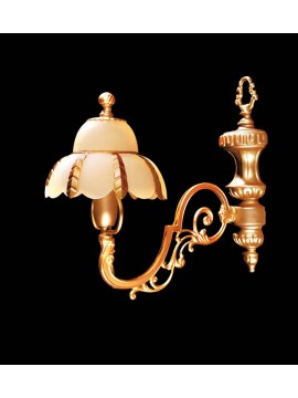 Classic wall light in satin gold brass 1 light BGA 1005-ap1