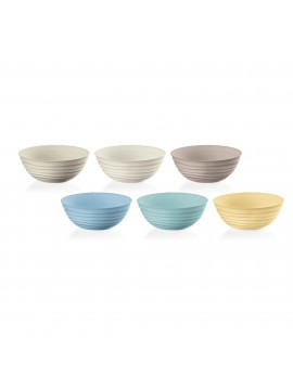 Set of 6 guzzini bowls Tierra collection 17500052 multicolor