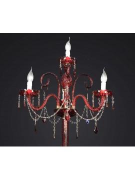 Swarovsky design red crystal floor lamp 4 lights BGA 1599-pt4