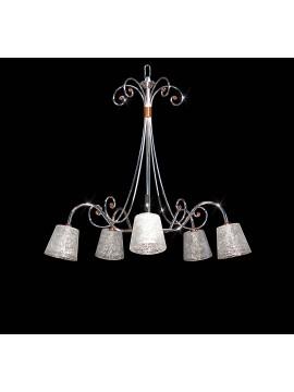 Modern chromed 5 lights crystal chandelier BGA 1641-5