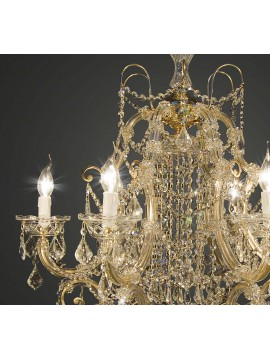 Lampadario classico cristallo oro design swarovsky 5 luci BGA 1669-6
