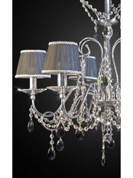 Modern black crystal swarovsky design chandelier 6 lights BGA 1685-6
