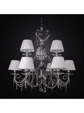 Modern black crystal chandelier swarovsky design 9 lights BGA 1685-6-3