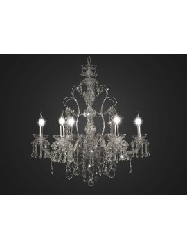Classic chromed crystal chandelier swarovsky design 6 lights BGA 1711-6
