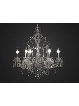 Lampadario classico cristallo cromato design swarovsky 6 luci BGA 1711-6