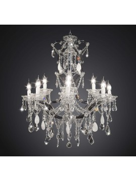Classic black crystal chandelier swarovsky design 12 lights BGA 1770-8-4