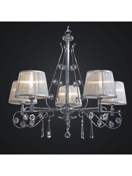 Modern chromed crystal chandelier with swarovsky design 5 lights BGA 1788-5
