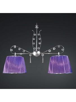 Bilanciere moderno cromato cristallo design swarovsky 2 luci BGA 1788-b2