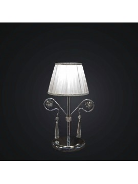 Modern chromed crystal table lamp swarovsky design 1 light BGA 1788-lp
