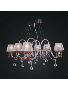 Contemporary swarovsky design crystal chandelier 6 lights BGA 1801-6