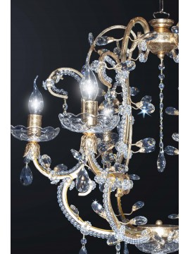 Classic swarovsky design crystal chandelier 6 lights BGA 3079-6