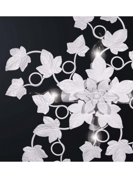 White wrought iron ceiling light 4 lights BGA 3081-pl4