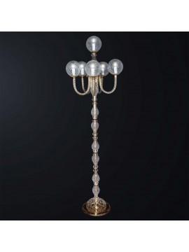 Piantana classica in cristallo design swarovsky 6 luci BGA 3082-pt6