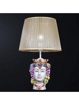 Lume lampada grande testa di moro donna 1 luce BGA 3094-lm