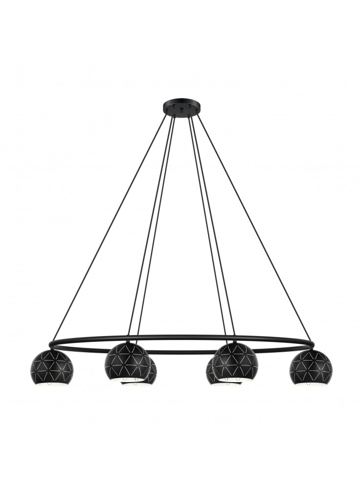 Modern black design 6 lights chandelier GLO 98456 Cantallops