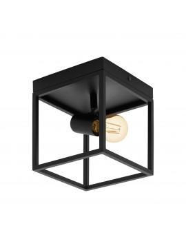 Plafoniera moderna vintage minimal nero 1 luce GLO 98331 Silentina