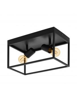 Plafoniera moderna vintage minimal nero 2 luci GLO 98332 Silentina