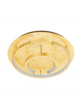 Modern ceiling light with led gold leaf d.38cm GLO 98487 Pozondon