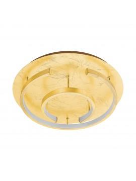 Plafoniera moderna a led foglia oro d.38cm GLO 98487 Pozondon
