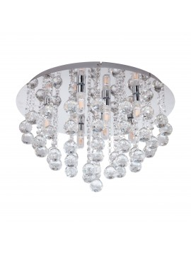 Modern LED ceiling light with crystal design GLO 97699 Almonte