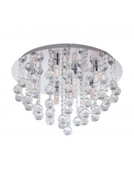 Plafoniera moderna a led design cristallo GLO 97699 Almonte