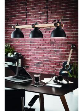 3 lights vintage modern black chandelier GLO 43163 Lubenham