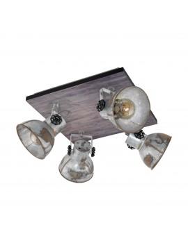 Rustic vintage spotlight spotlight 4 lights GLO 49653 Barnstaple