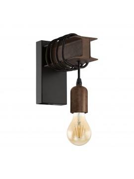 Rustic vintage rust wall light 1 light GLO 43152 Townshend 4