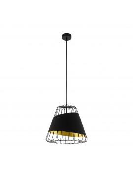 Modern design black and gold chandelier 1 light GLO 49446 Austell