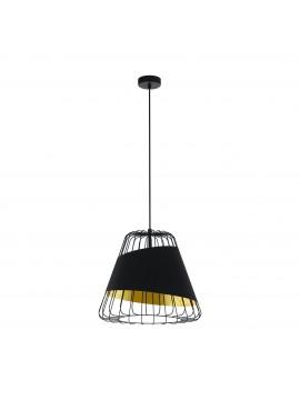 Modern black and gold design chandelier 1 light GLO 49509 Austell
