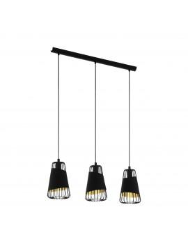 3 lights black and gold modern design chandelier GLO 49448 Austell
