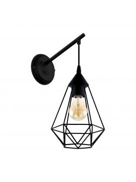 Applique moderno vintage design nero 1 luce GLO 49081 Tarbes