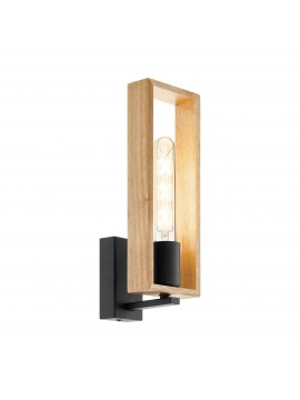 1 light vintage modern wood wall light GLO 49698 Littleton