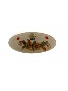 Plafoniera spot d.30 in ferro battuto e ceramica girasole 1 luce coll. Terry