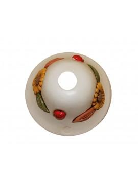 Piatto per lampadario d.18 ceramica girasole coll. Terry