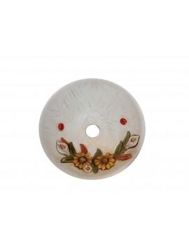 Piatto per lampadario d.30 ceramica girasole coll. Terry
